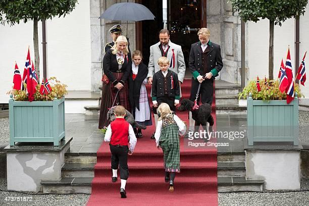 Crown Princess MetteMarit of Norway Crown Prince Haakon of Norway Princess Ingrid Alexandra of Norway Prince Sverre Magnus of Norway and Marius Borg...