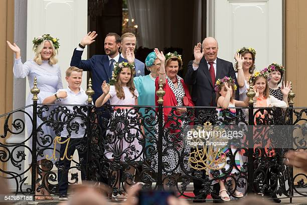 Crown Princess MetteMarit of Norway Prince Sverre Magnus of Norway Crown Prince Haakon of Norway Princess Ingrid Alexandra of Norway Marius Borg...