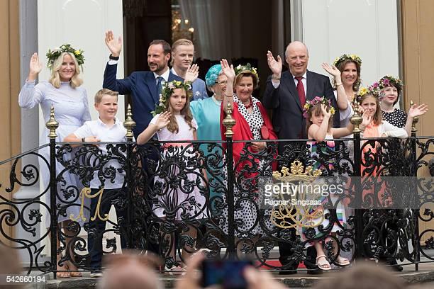 Crown Princess Mette-Marit of Norway, Prince Sverre Magnus of Norway, Crown Prince Haakon of Norway, Princess Ingrid Alexandra of Norway, Marius Borg...