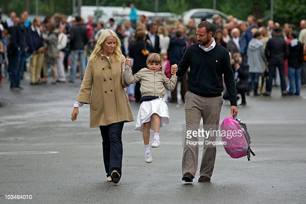 Crown Princess MetteMarit of Norway Princess Ingrid Alexandra of Norway and Crown Prince Haakon of Norway accompanies Princess Ingrid Alexandra to...