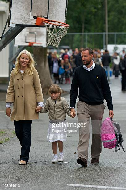 Crown Princess Mette-Marit of Norway, Princess Ingrid Alexandra of Norway and Crown Prince Haakon of Norway accompanies Princess Ingrid Alexandra to...