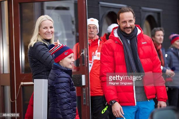Crown Princess MetteMarit of Norway Princess Ingrid Alexandra of Norway and Crown Prince Haakon of Norway attend the FIS Nordic World Ski...