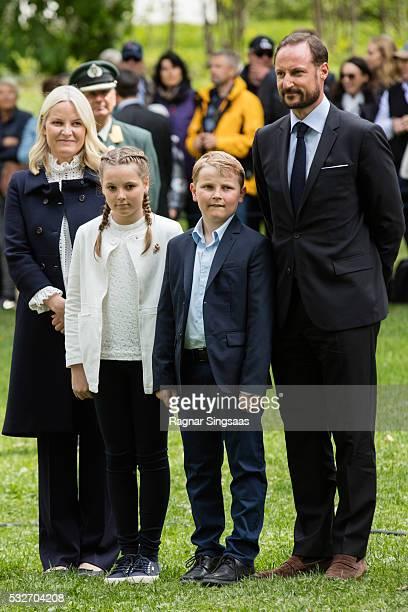 Crown Princess MetteMarit of Norway Princess Ingrid Alexandra of Norway Prince Sverre Magnus of Norway and Crown Prince Haakon of Norway attend the...