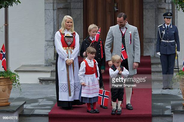 Crown Princess Mette-Marit of Norway, Princess Ingrid Alexandra of Norway, Marius Borg Hoiby, Prince Sverre Magnus of Norway and Crown Prince Haakon...