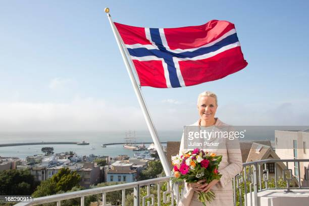 Crown Princess MetteMarit of Norway visits The Norwegian Seamen's Church during day three of their five day official visit to the USA on May 7 2013...