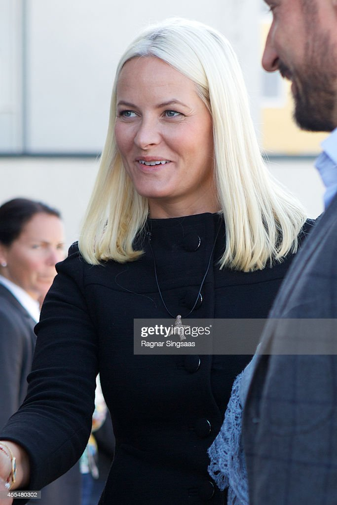 Norway Royals Visit National Centre of Competence in Drammen : News Photo