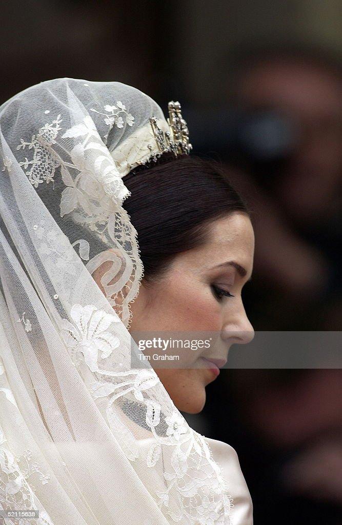 Mary Of Denmark Bride : News Photo