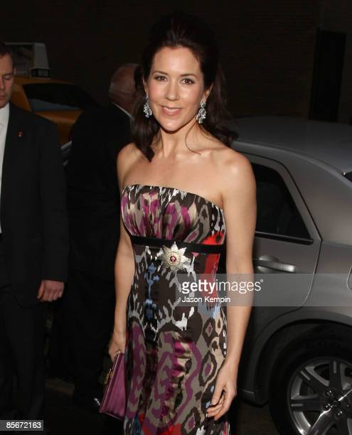 Crown Princess of Denmark Mary Elizabeth Donaldson attends the 2009 AmericanScandinavian Foundation dinner at the Pierre Hotel on March 27 2009 in...