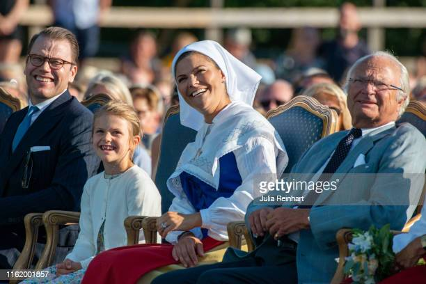 Crown Princess Victoria and her family enjoy The Crown Princess Victoria of Sweden's 42nd birthday celebrations on July 14 2019 at Borgholm's...