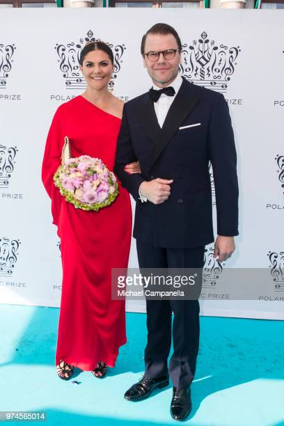 Jessika Gedin and Pal Hollender attend the 2018 Polar Music Prize award ceremony at the Grand Hotel on June 14 2018 in Stockholm Sweden