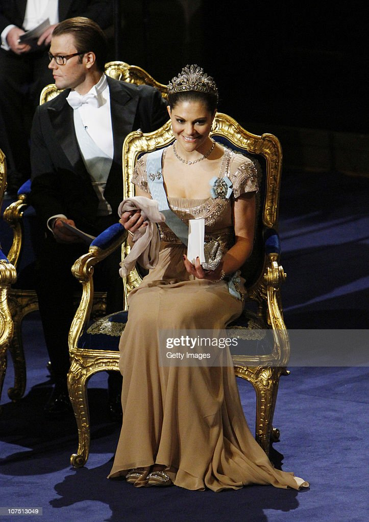 Crown Princess Victoria and Prince Daniel of Sweden attend the annual Nobel Prize Award Ceremony at The Concert Hall on December 10, 2010 in Stockholm, Sweden. Dignitaries in Norway have honored the winner of this year's Nobel Peace Prize , imprisoned Chinese dissident Liu Xiaobo, with an empty chair. The award's winner is being held in a chinese prison with China enforcing a blackout ot western news coverage of the event.