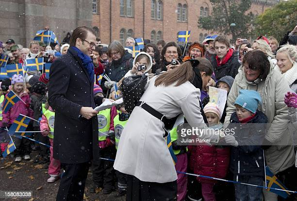 Crown Princess Victoria And Prince Daniel Of Sweden On A Three Day Visit To The County Of Vastergotland In SwedenVisit To Karlsborgs Kommun In...