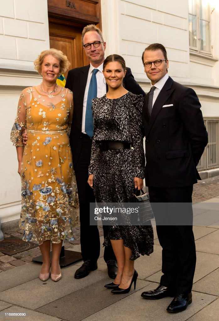 Crown Princess Victoria And Prince Daniel Of Sweden Visit Copenhagen - Day 1 : News Photo