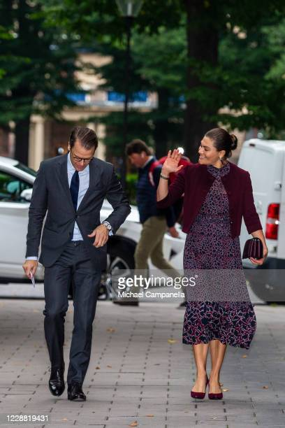 Crown Princess Victoria and Prince Daniel of Sweden visit the Maxim Theater on October 1 2020 in Stockholm Sweden The Maxim Theater is one of the...