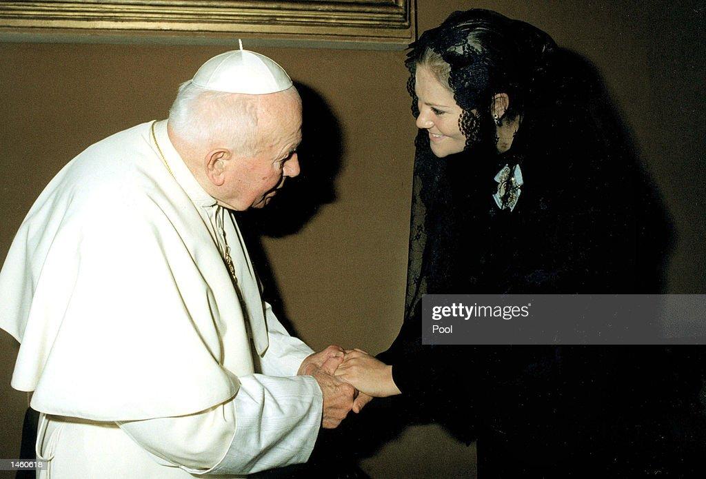 Swedish Royal Visits Pope John Paul II : News Photo