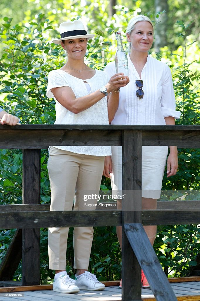 Victoria of Sweden and Mette Marit of Norway Take Part in Climate Pilgrimage 2015 : News Photo