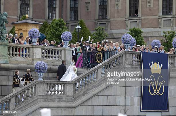 Crown Princess Victoria Of Sweden And Daniel Westling Arrive Back At The Royal Palace After Their Wedding And Trip Around Stockholm