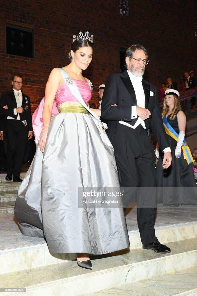 Nobel Prize Banquet 2018, Stockholm : News Photo