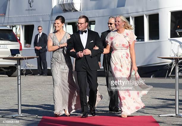 Crown Princess Victoria of Sweden and her husband Daniel, Duke of Vastergotland, Crown Princess Mette Marit of Norway, Princess Maertha Louise of...