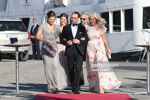 Crown Princess Victoria of Sweden and her husband Daniel Duke of Vastergotland Crown Princess Mette Marit of Norway Princess Maertha Louise of Norway...