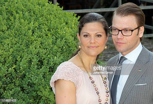 Crown Princess Victoria of Sweden and her husband Prince Daniel , Duke of Vastergotland, attend Blutenburg Castle on May 25, 2011 in Munich, Germany.
