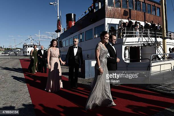 Crown Princess Victoria of Sweden and her husband Prince Daniel of Sweden are followed by Princess Maertha Louise of Norway and her husband Ari Behn...