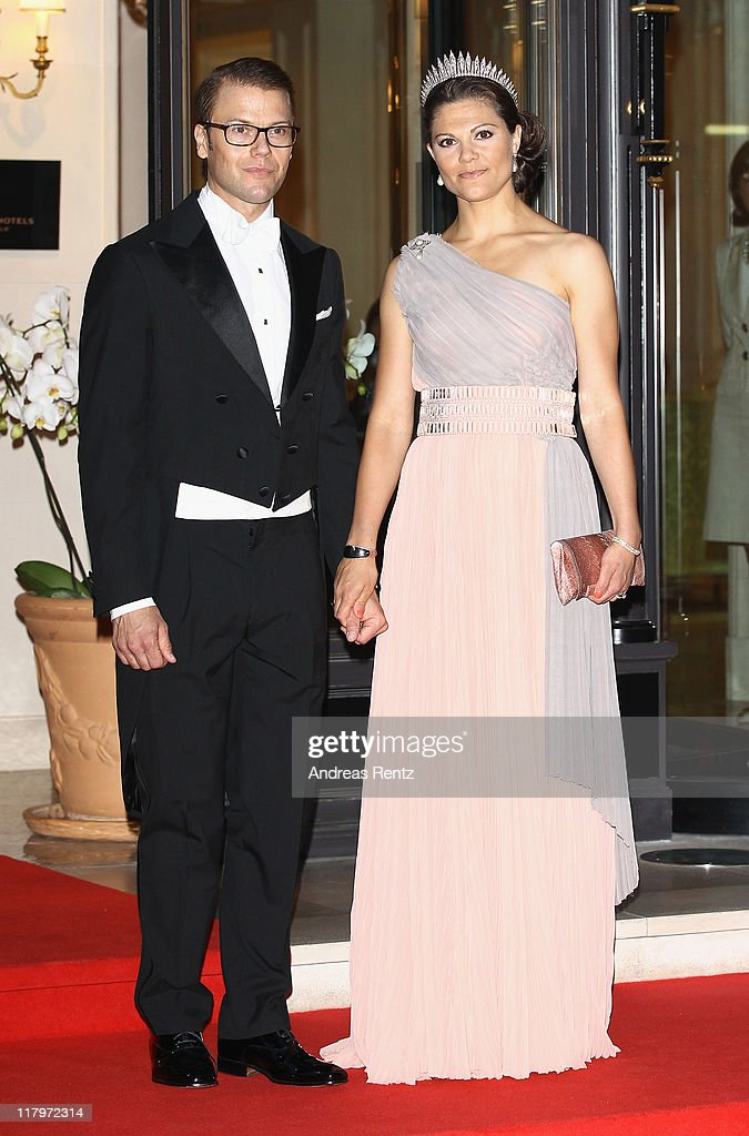 Monaco Royal Wedding - Dinner Arrivals and Fireworks : News Photo