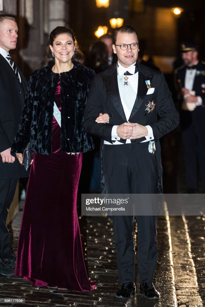 Swedish Royals Attend A Gathering of the Swedish Academy