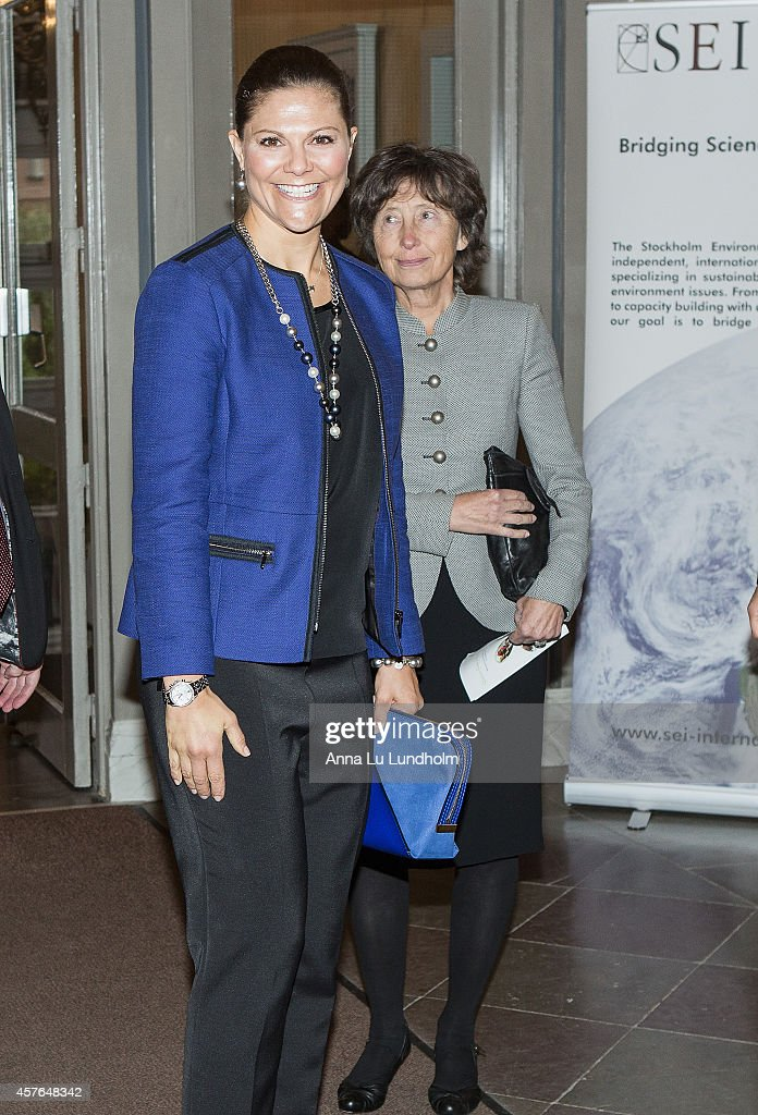 Swedish Royals Attend Stockholm Environmental Institute's 25th Anniversary Celebrations : News Photo