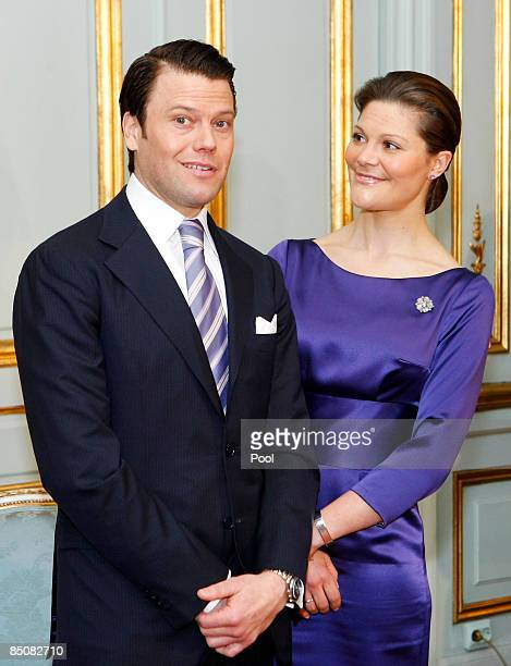 Crown Princess Victoria of Sweden and Mr Daniel Westling announced their engagement during a press conference at The Royal Palace on February 24 2009...