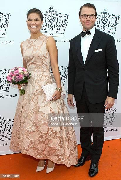 Crown Princess Victoria of Sweden and Prince Daniel attend Polar Music Prize at Stockholm Concert Hall on August 26 2014 in Stockholm Sweden