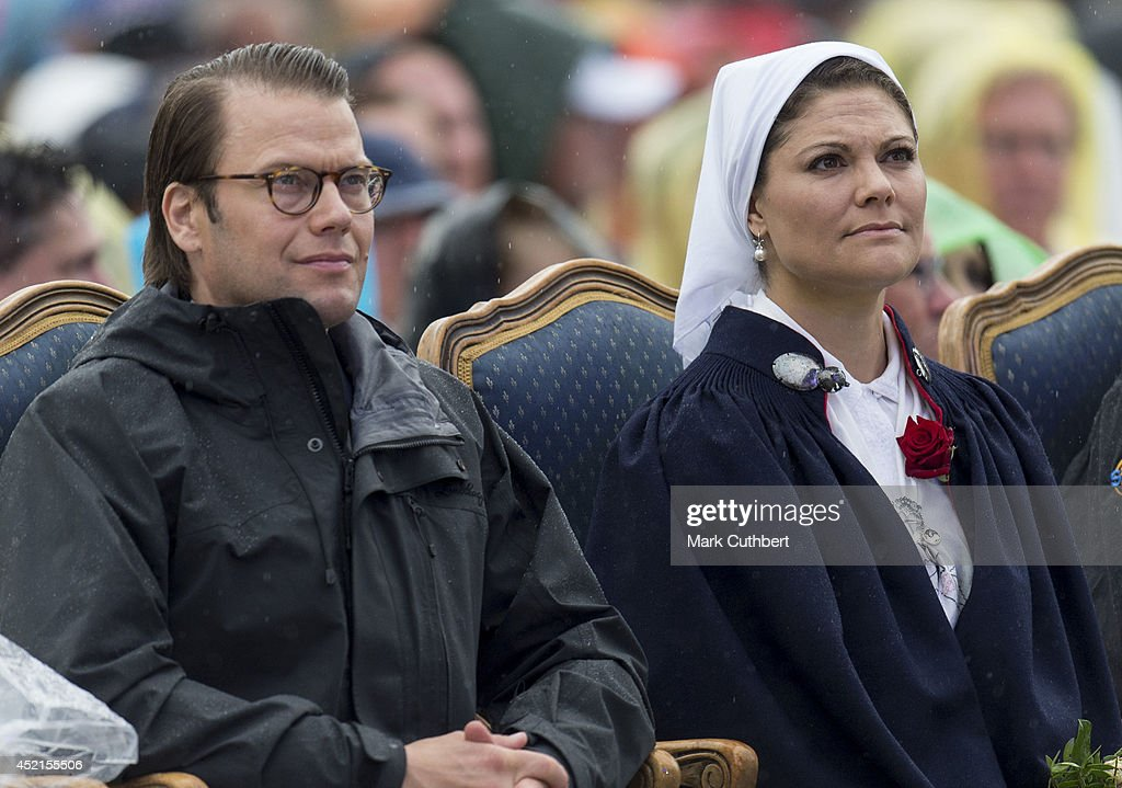 Crown Princess Victoria of Sweden and Prince Daniel, Duke of Vastergotland attend a concert to celebrate her 37th birthday at Borgholm on July 14, 2014 in Oland, Sweden.