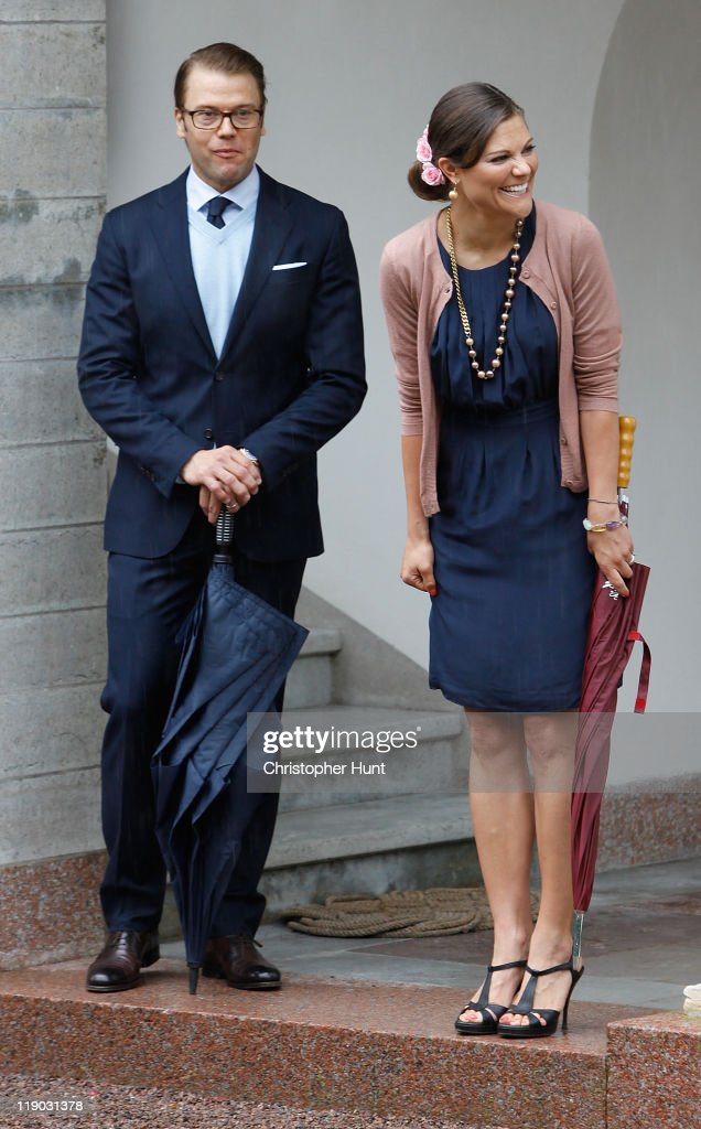 Crown Princess Victoria of Sweden and Prince Daniel, Duke of Vastergotland attend Crown Princess Victoria's birthday celebrations at Solliden on July 14, 2011 in Borgholm, Sweden.