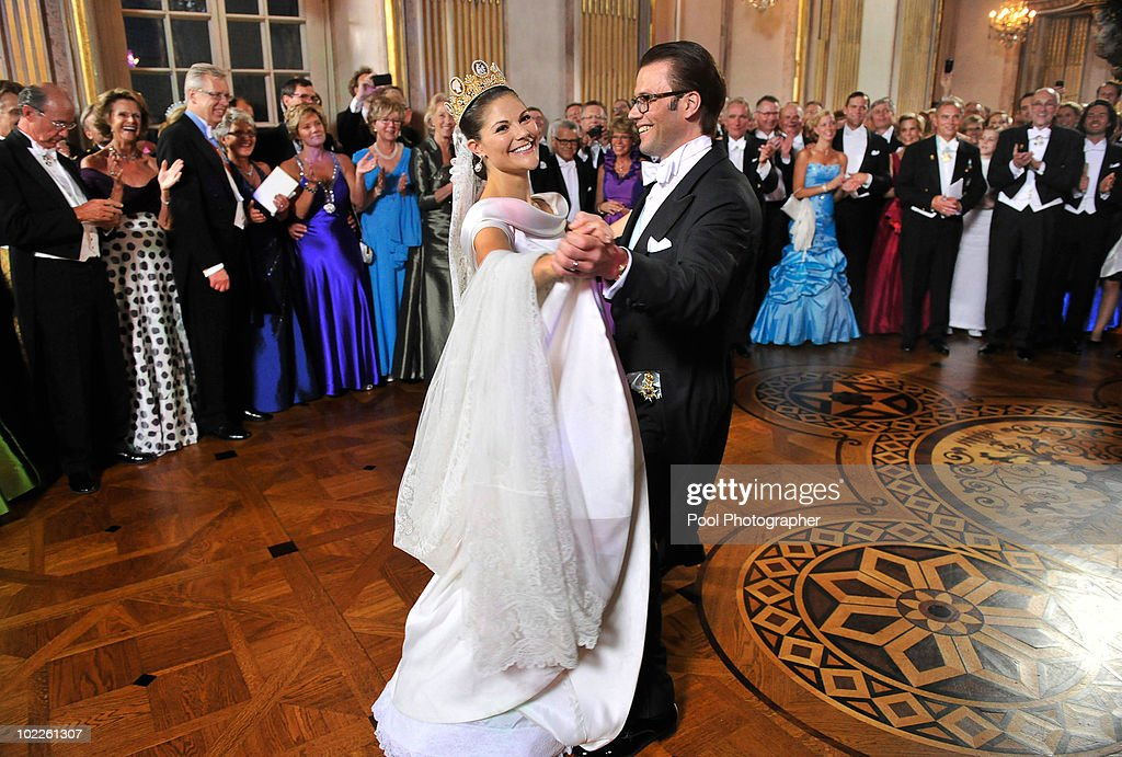 Crown Princess Victoria of Sweden and Prince Daniel, Duke of Vastergotland dance after the Wedding Banquet at the Royal Palace on June 19, 2010 in Stockholm, Sweden.:Photo by Jonas Ekstromer - Pool/WireImage