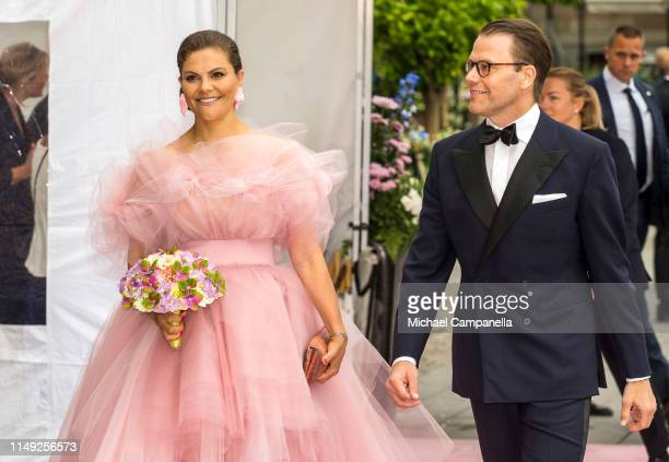 Crown Princess Victoria of Sweden and Prince Daniel of Sweden arrive at the red carpet during the 2019 Polar Music Prize award ceremony on June 11,...