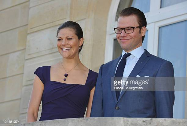 Crown Princess Victoria of Sweden and Prince Daniel of Sweden attend reception at Sceaux Town hall on September 27 2010 in Paris France