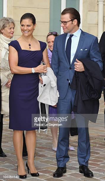 Crown Princess Victoria of Sweden and Prince Daniel of Sweden attend a reception at the Sceaux Town hall on September 27 2010 in Sceaux France