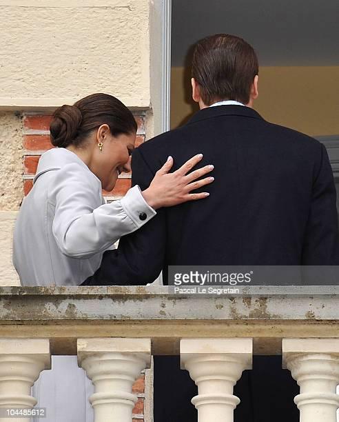 Crown Princess Victoria of Sweden and Prince Daniel of Sweden attend a visit at Chateau La Grange on September 27 2010 in SavignyleTemple France