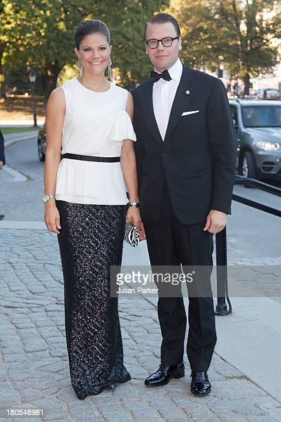 Crown Princess Victoria of Sweden and Prince Daniel of Sweden attend the Swedish Government dinner to celebrate King Carl Gustaf's 40th Jubilee at...