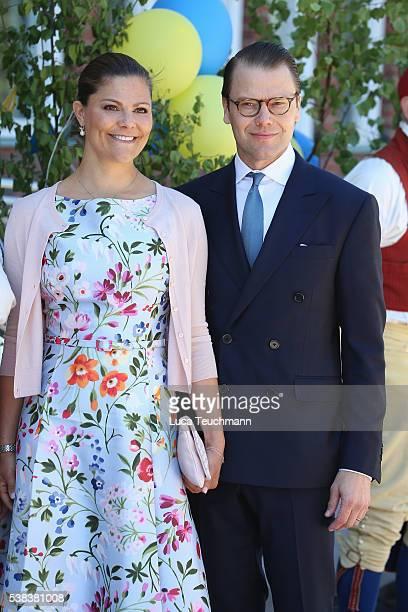 Crown Princess Victoria of Sweden and Prince Daniel of Sweden attend the National Day Celebrations on June 6 2016 in Stockholm Sweden