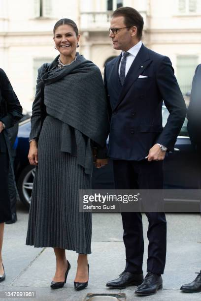 Crown Princess Victoria of Sweden and Prince Daniel of Sweden during a visit at Unione Industriale in Turin to promote bilateral relations in the...