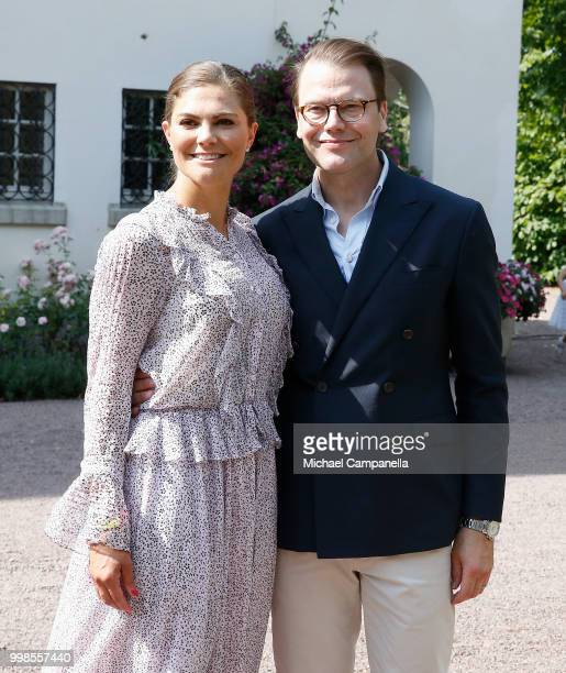 Crown Princess Victoria of Sweden and Prince Daniel of Sweden during the occasion of The Crown Princess Victoria of Sweden's 41st birthday...