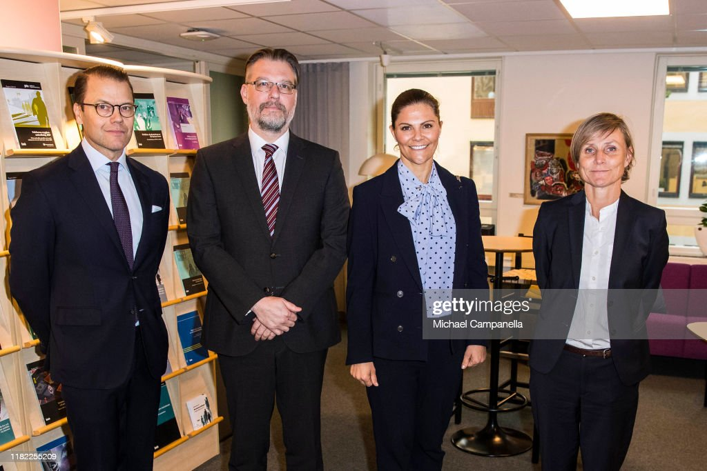 Swedish Royals Visit The Crime Prevention Council : News Photo