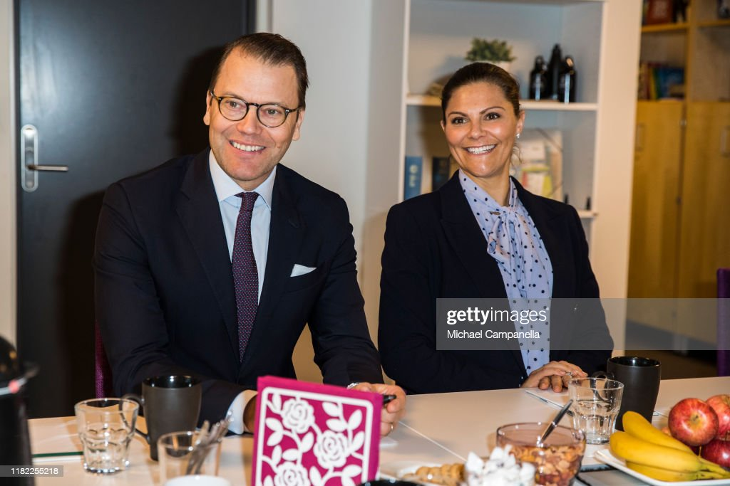 Swedish Royals Visit The Crime Prevention Council : News Photo