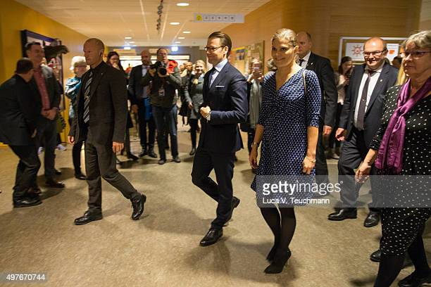 Crown Princess Victoria of Sweden and Prince Daniel of Sweden visit Varmland on November 18 2015 in Varmland Sweden