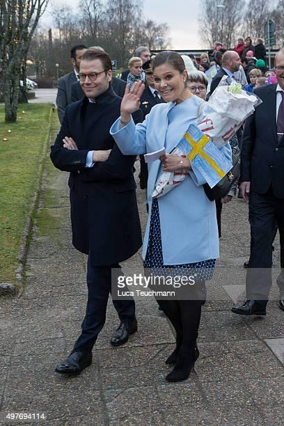 Crown Princess Victoria of Sweden and Prince Daniel of Sweden visit Varmland on November 18 2015 in Varmland Sweden