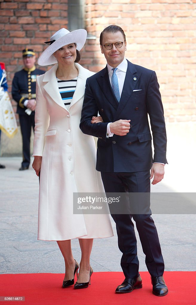 Crown Princess Victoria of Sweden, and Prince Daniel of Sweden,attend a Lunch at City Hall Stockholm, on the occasion of King Carl Gustaf of Sweden's 70th Birthday, on April 30, 2016, in Stockholm, Sweden.