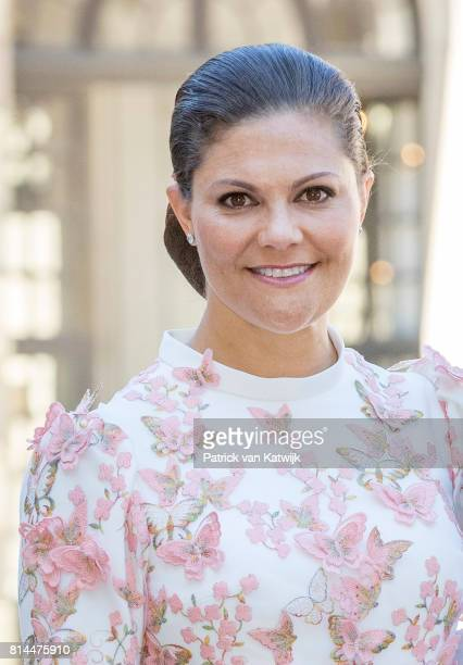 Crown Princess Victoria of Sweden arrive for a thanksgiving service on the occasion of The Crown Princess Victoria of Sweden's 40th birthday...