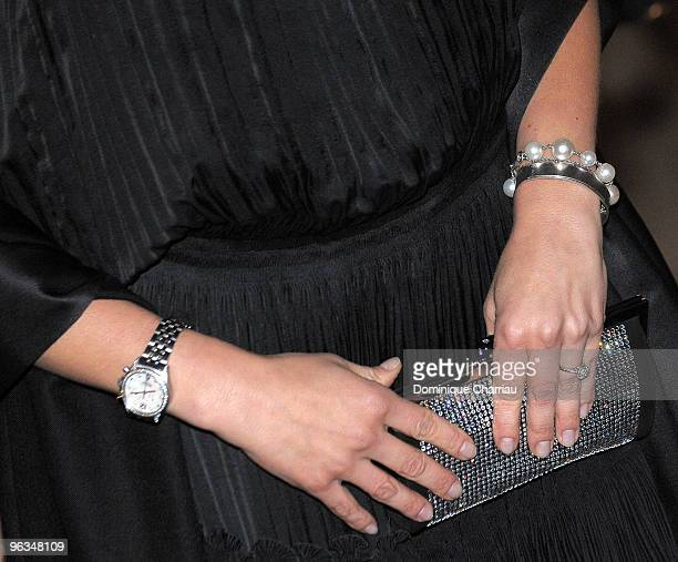 Crown Princess Victoria of Sweden arrives at the Franco-Swedish Gala organised by Swedish Trade Council and Paris City Hall at Le Petit...