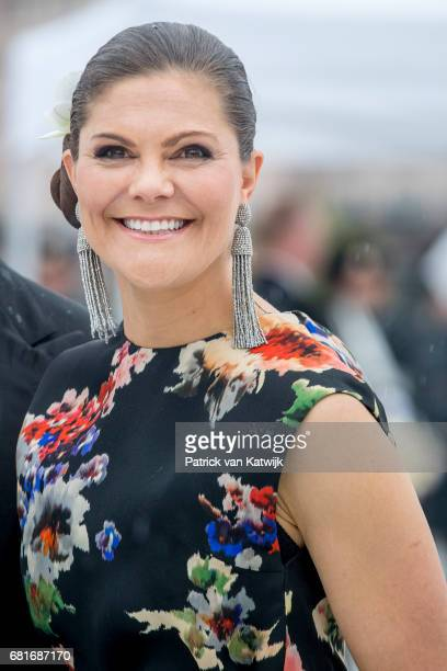 Crown Princess Victoria of Sweden arrives at the Opera House on the ocassion of the celebration of King Harald and Queen Sonja of Norway 80th...